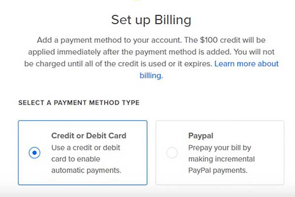digitalocean billing add a payment method