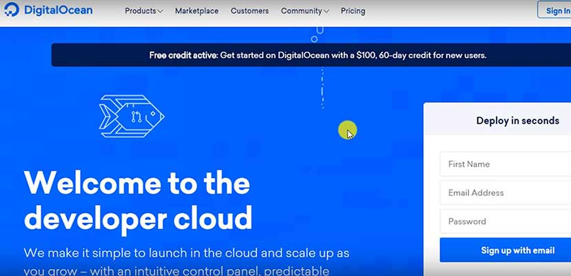 digitalocean vps Free credit notification