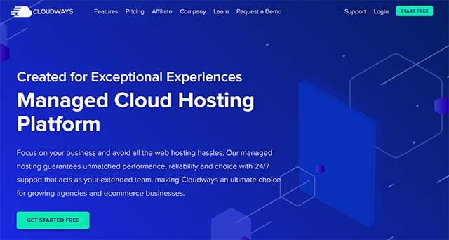 Cloudways Review Homepage